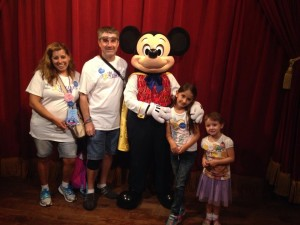 Moore Family with Mickey Mouse