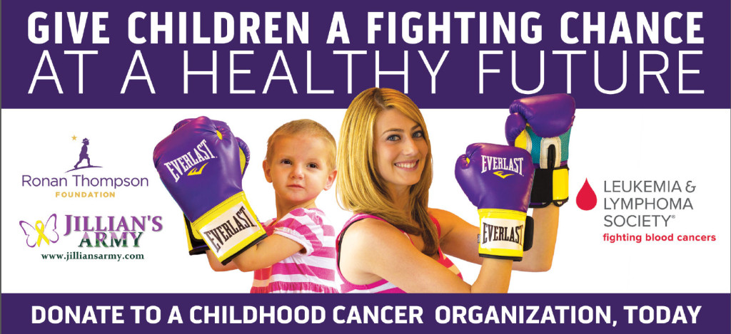 Jillian's Army Childhood Cancer Awareness Billboard